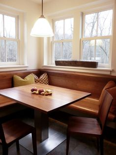 20 Stunning Kitchen Booths And Banquettes HGTV. Decorating: Attractive Breakfast Nook Ideas For Modern . Kitchen Banquette, Banquette Seating, Kitchen Benches, Dining Nook, Dining Room Sets, Dining Table In Kitchen, Kitchen Decor, Kitchen Ideas, Kitchen Seating