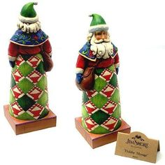 Jim-Shore-Heartwood-Creek-Holiday-Message-Santa-with-Bag-Figurine-by-Enesc