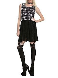 HOTTOPIC.COM - Newbreed Girl Stacked Cats Dress