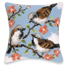 Cherry Delights Pillow Top - Cross Stitch, Needlepoint, Stitchery, and Embroidery Kits, Projects, and Needlecraft Tools | Stitchery