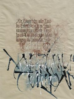 Andrea Wunderlich.  Exquisite work. Calligraphy Artist, Calligraphy Text, Calligraphy Handwriting, Penmanship, Hand Lettering Fonts, Typography Logo, Graphic Design Typography, Beautiful Handwriting, Beautiful Lettering