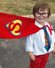 Crocheted Superman Cape by TheAppleandTree on Etsy, $30.00