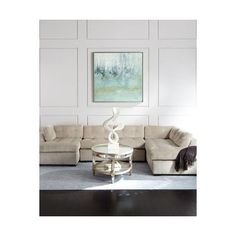 Old Hickory Tannery McLain Ivory 3-Piece Right-side Chaise Sectional... (23,135 AED) ❤ liked on Polyvore featuring home, furniture, sofas, ivory, cream couch, off white couch, three piece sectional, handmade sofa and cream sofa