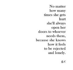 Shes hurt and broken but that is ok
