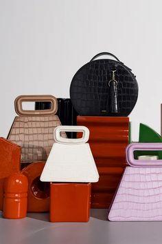 Fashion Handbags, Fashion Bags, Fashion Show, Mini Handbags, Leather Handbags, Unique Handbags, Ankara Bags, Edgy Shoes, Small Leather Bag