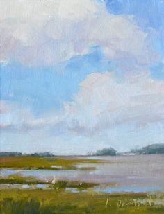 Drifting Cloud Study, painting by artist Laurel Daniel