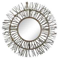 Uttermost Josiah Woven Mirror, Brown