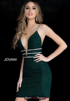 Jovani 61628 Form fitting short emerald glitter homecoming dress with three thin embellished belts and spaghetti straps features plunging neckline. Sexy Dresses, Short Dresses, Fashion Dresses, Formal Dresses, Short Evening Dresses, Elegant Dresses, Summer Dresses, Wedding Dresses, 1950s Dresses