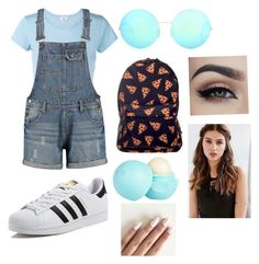 """""""Summer Camp"""" by xxbabypandaxx on Polyvore featuring RE/DONE, Victoria Beckham, adidas, River Island and REGALROSE"""