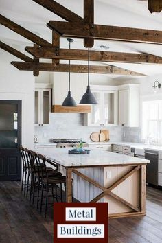 If you are looking for Modern Farmhouse Kitchen Island Decor Ideas, You come to the right place. Here are the Modern Farmhouse Kitchen Island D. Farmhouse Kitchen Island, Kitchen Island Decor, Modern Farmhouse Kitchens, Home Decor Kitchen, Kitchen Interior, New Kitchen, Kitchen Ideas, Kitchen Islands, Awesome Kitchen