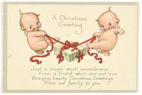 「クリスマスカード」 (C)Rose O'Neill Kewpie International
