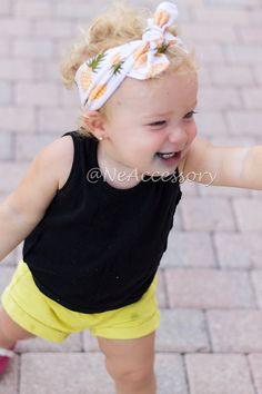 Baby Girl Head Wrap Baby Turban Headband Pineapple by NeAccessory