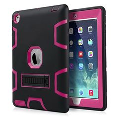 Shockproof Heavy Duty Kickstand Rubber With Hard Stand Case Cover for iPad Rose Red/black Kawaii Games, Credit Card Services, Cute Ipad Cases, Lol Dolls, Ipad 4, How To Get Money, Apple Ipad, Protective Cases, Red Roses