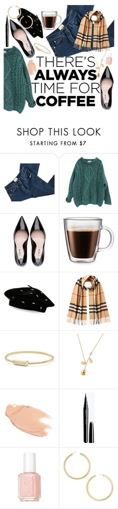 """there's always time for coffee"" by realshannon ❤ liked on Polyvore featuring 3.1 Phillip Lim, Essentiel, Frontgate, Steve Madden, Burberry, David Yurman, Too Faced Cosmetics, Essie, BaubleBar and CoffeeDate"