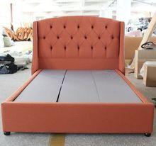 El más promocional tela suave cabecero de cama de muebles europeos tipo para marco de la cama doble(China (Mainland))