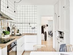 Subway tiles and wood utensils - via cocolapinedesign.com