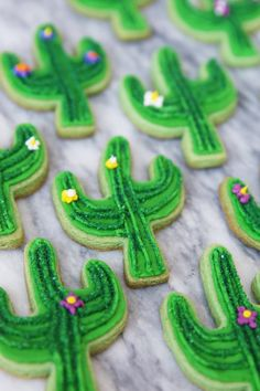These stunning cactus cookies are actually easier than you'd think to make at home!