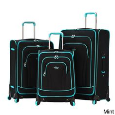 Olympia 'Santa Fe' 3-piece Spinner Luggage Set   Overstock.com Shopping - The Best Deals on Three-piece Sets