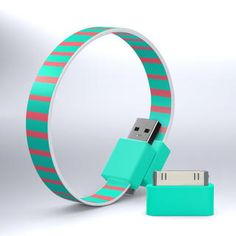 Multitasking bracelet? The loop cable provides battery charging and data transfer for all Micro USB devices such as smartphones, mp3 players, bluetooth, and GPS devices. ($15)