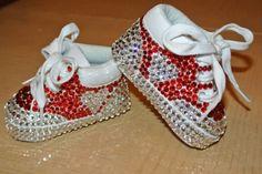 Heart Swarovski toddler / baby tennies sneakers