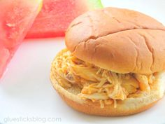 Slow Cooker Buffalo Chicken Sandwiches: So easy it's ridiculous.