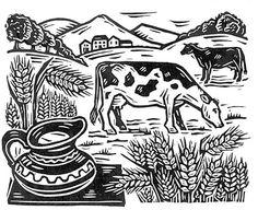 Linocut by Owain Kirby