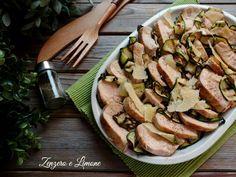 Tagliata di pollo con zucchine