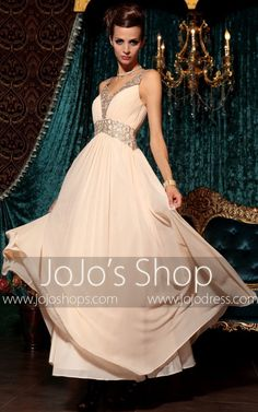d02f050d8 Peach Pink Grecian Long Chiffon Formal Prom Evening Pageant Dress | DQ830798