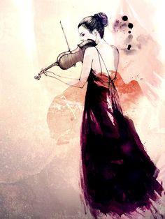 28 Best Watercolor Violin Images On Pinterest