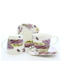 Lavender dream in a SHABBY CHIC tea set www. Tea Set, Shabby Chic, Cookies, Mugs, Tableware, Beautiful, Fragrance, Crack Crackers, Dinnerware