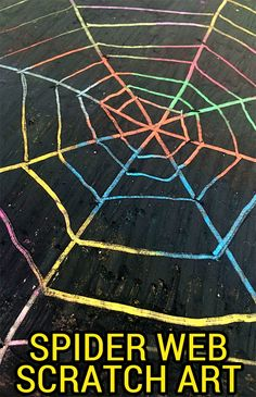Love scratch art? Check out these simple DIY scratch art sheet and make your own spider webs for Halloween!