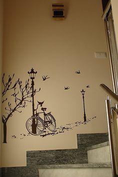 PINTAR Y DECORAR ESCALERAS | Decorar tu casa es facilisimo.com Tree Design On Wall, Ceiling Design, Wall Design, Wall Murals, Wall Art Decor, Mad About The House, Dark Art Drawings, Home Ceiling, Room Paint