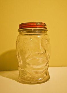 Vintage Nash's Mustard Jar Lucky JOE LOUIS by thepersnicketypigeon, $20.00