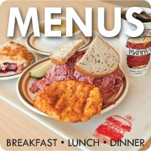 Manny's Cafeteria & Delicatessen - Menu - Breakfast - Lunch - Dinner