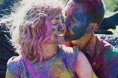 Holi powder engagement - CJ Williams Photography