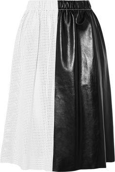 Proenza Schouler|Paneled leather skirt|NET-A-PORTER.COM