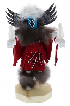 Native American Navajo Crow Mother Kachina Doll KX74698
