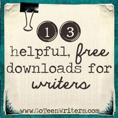 You'll find all these in the Extras section ofGo Teen Writers: How to Turn Your First Draft Into a Published Book, but here they are in a printable form for your convenience! Self-Editing Ch...