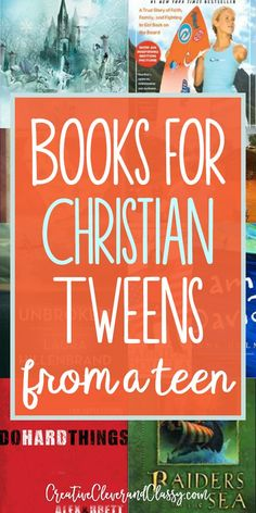 Inspiring Books for Christian Tweens from a Christian Teen Inspiring, quality, age appropriate books can be hard to find. Here are books for Christian tweens, designed to help them grow in faith and in character! Books For Tween Girls, Best Books For Tweens, Classic Books For Teens, Good Books, Books To Read, Ya Books, Library Books, Middle School Books, Homeschool Books