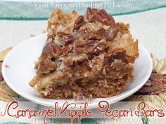 Caramel Apple Pecan bars