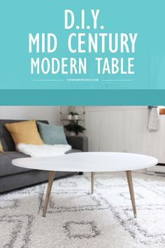 A Simple DIY Mid Century Modern Coffee Table! Can't beat that price either.
