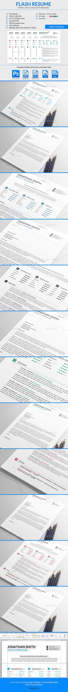 Resume u2014 Photoshop PSD #layered #letter u2022 Available here - photoshop resume templates