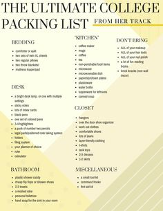 Pack For College. College Tips. Freshman Tips. Pack What You Need. Everything you need to know about packing for college. The Ultimate College Packing List and a free printable version to cross things off! College Dorm Checklist, College Packing Lists, College Hacks, College Dorm Rooms, College Fun, College Board, College Basketball, University Checklist, College Agenda