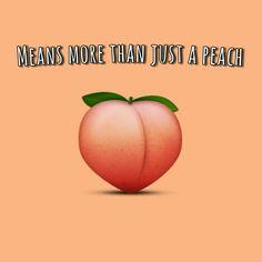 The peach emoji
