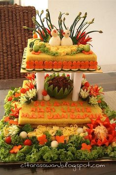 new ideas party design ideas tutorials Amazing Food Decoration, Cheese Cake Filling, Indonesian Cuisine, Food Garnishes, Veggie Tray, Rice Cakes, Food Safety, Food Design, Design Ideas