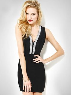 98da222f1d3162 Herve Leger Black V Neck Open Back Bandage Dress Only $209 Brand:Herve Leger  Style