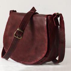 bordeaux leather bag BBagdesign.