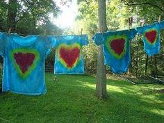 How to tye-dye a heart - perfect for Sweetheart Jamboree!!