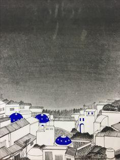 Busan gamcheon village in collaboration with santorini. by hyunjoo ji 2016