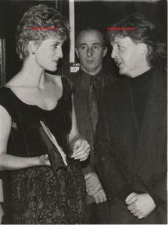 Original Princess Diana of Wales Press Photo Paul McCartney of Beatles